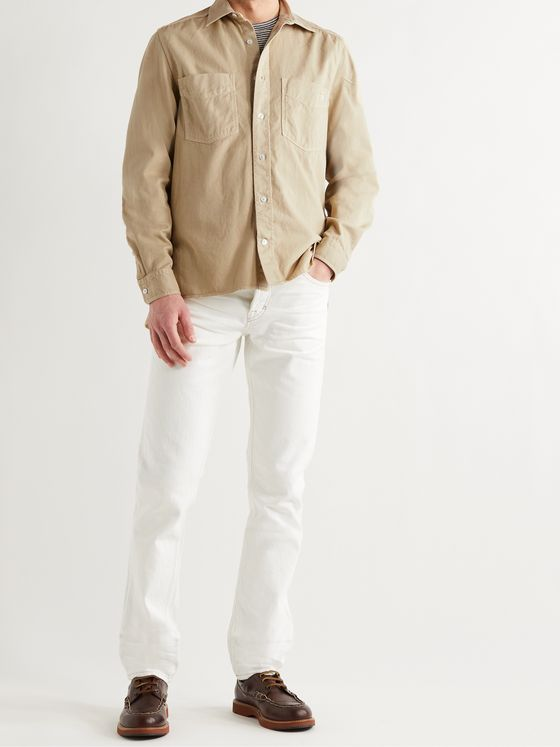 TOD'S Garment-Dyed Cotton Shirt