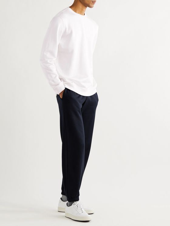 SSAM Tapered Silk and Cotton-Blend Sweatpants