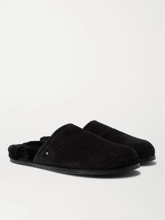 MR P. Shearling-Lined Suede Slippers
