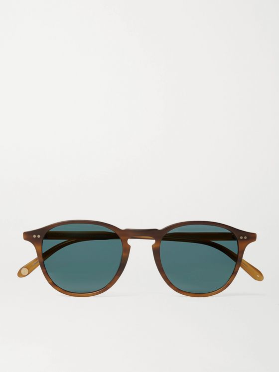 Garrett Leight California Optical Hampton Sun Round-Frame Tortoiseshell Acetate Sunglasses