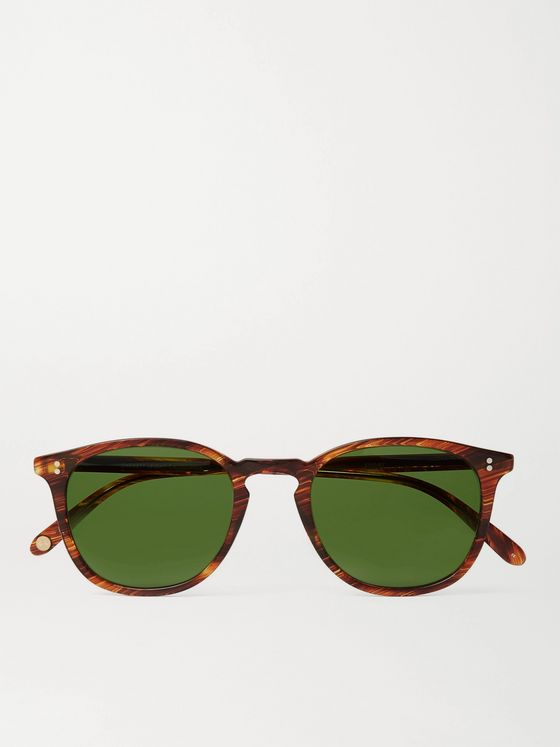 Garrett Leight California Optical Kinney D-Frame Tortoiseshell Acetate Sunglasses