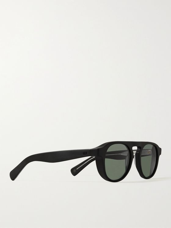 GARRETT LEIGHT CALIFORNIA OPTICAL Harding X Round-Frame Matte-Acetate Sunglasses