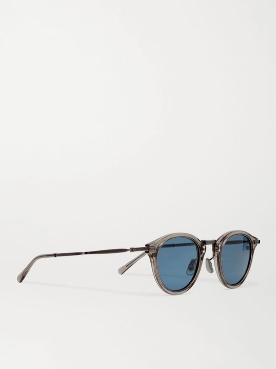 MR LEIGHT Stanley S Round-Frame Acetate and Pewter Sunglasses