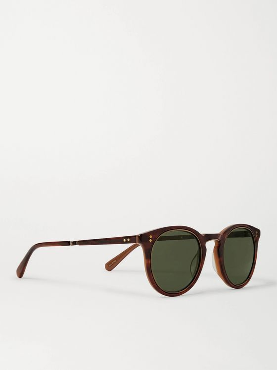 Mr Leight Crosby S Round-Frame Tortoiseshell Acetate and Gold-Tone Polarised Sunglasses