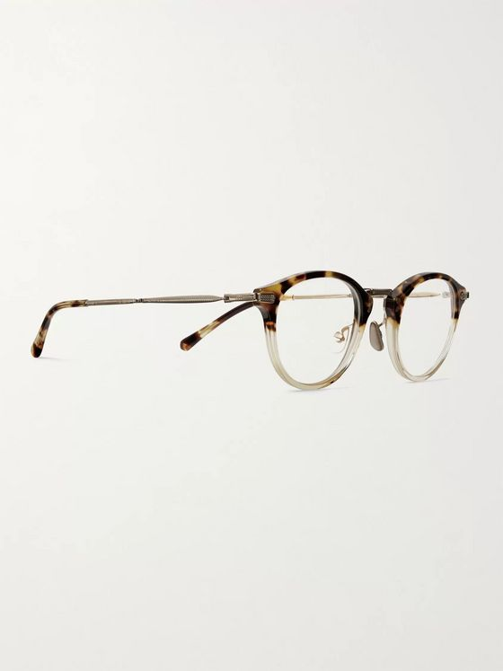 Mr Leight Stanley C Round-Frame Tortoiseshell Acetate and Gold-Tone Optical Glasses