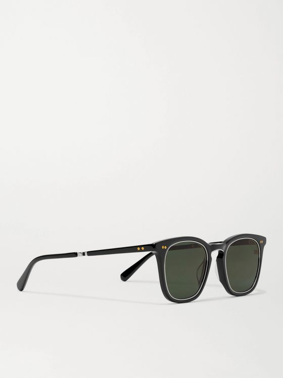 MR LEIGHT Getty S Square-Frame Acetate and Silver-Tone Sunglasses