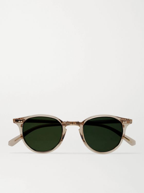 MR LEIGHT Marmont S Round-Frame Acetate and Silver-Tone Sunglasses