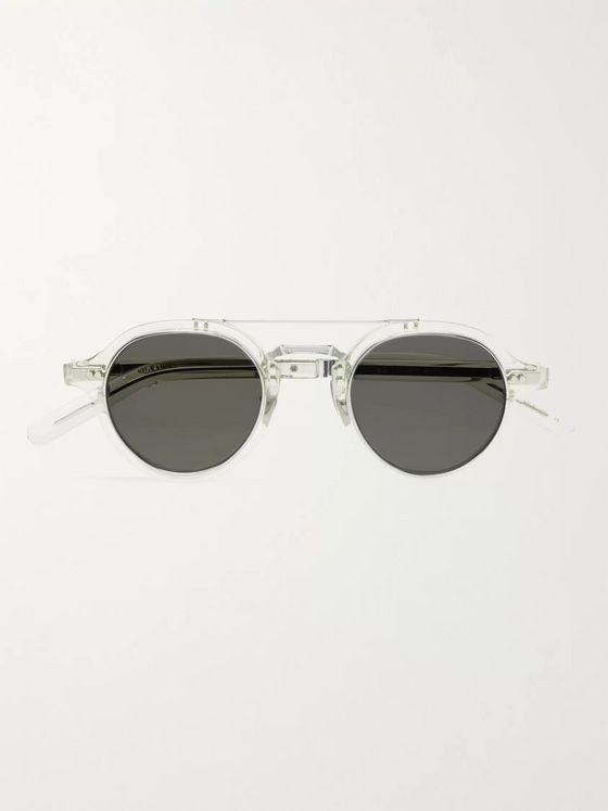 Mr Leight Ridley S Aviator-Style Acetate and Silver-Tone Sunglasses