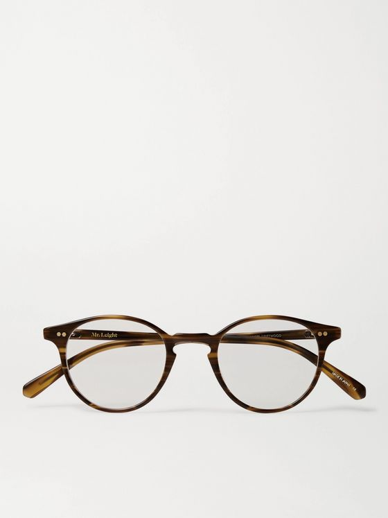 Mr Leight Marmont Round-Frame Tortoiseshell Acetate and Gold-Tone Optical Glasses
