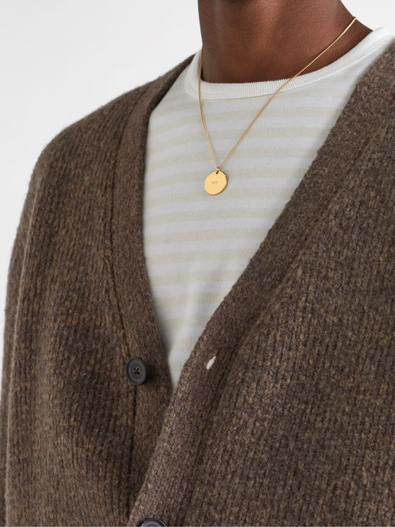A.P.C. Logo-Engraved Gold-Tone Necklace