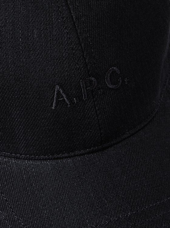 A.P.C. Logo-Embroidered Cotton-Blend Canvas Baseball Cap