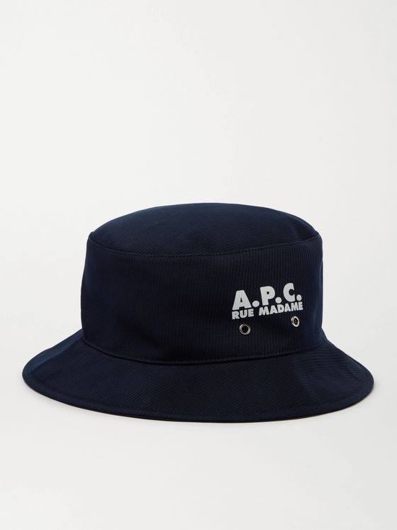 A.P.C. Alex Logo-Print Cotton Bucket Hat