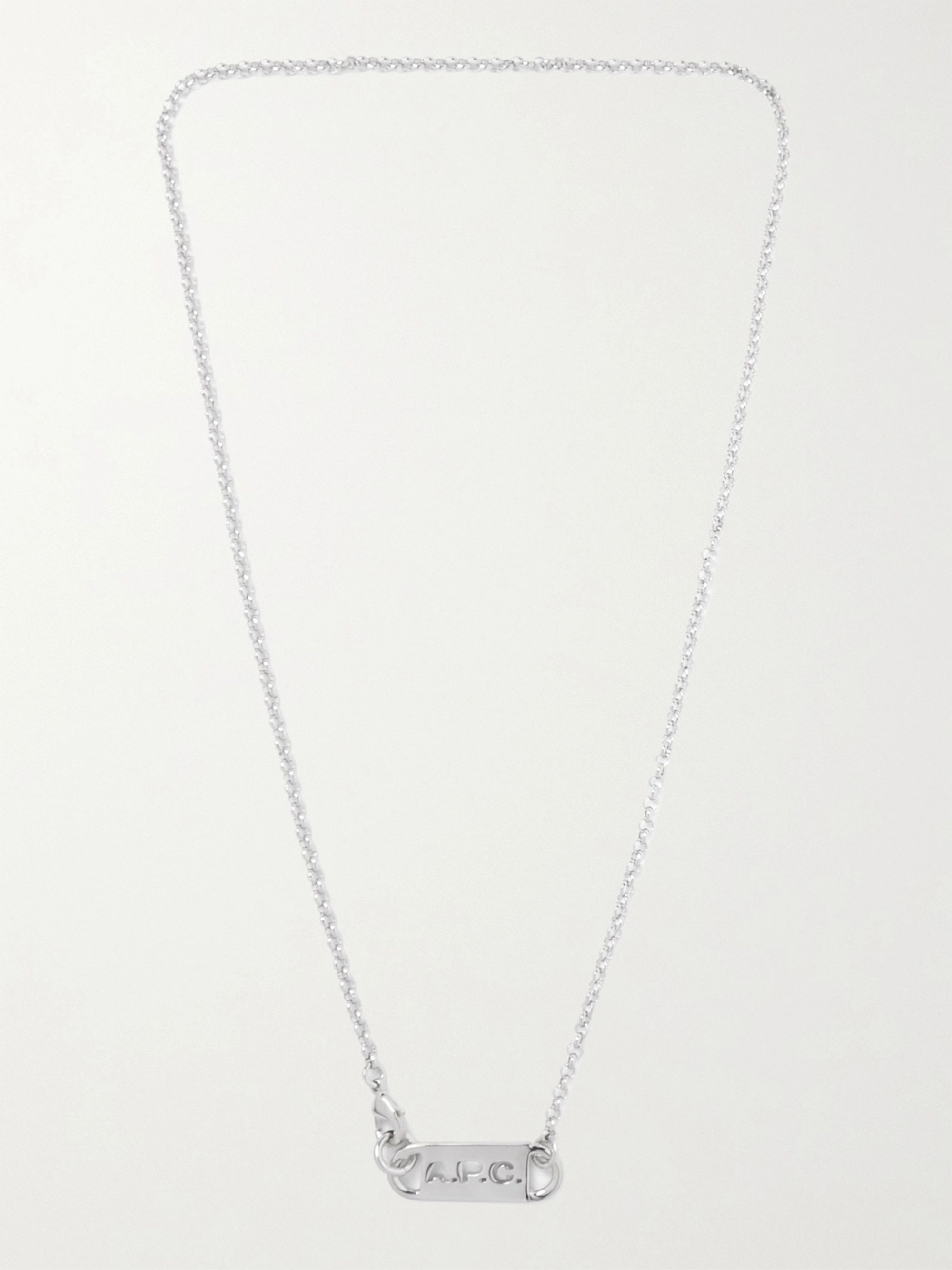 A.P.C. Logo-Detailed Silver-Tone Necklace