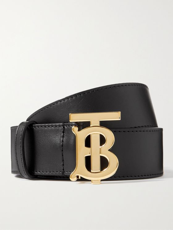 BURBERRY 4cm Leather Belt