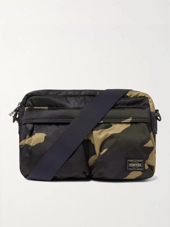 PORTER-YOSHIDA & CO Counter Shade Camouflage-Print Nylon Messenger Bag