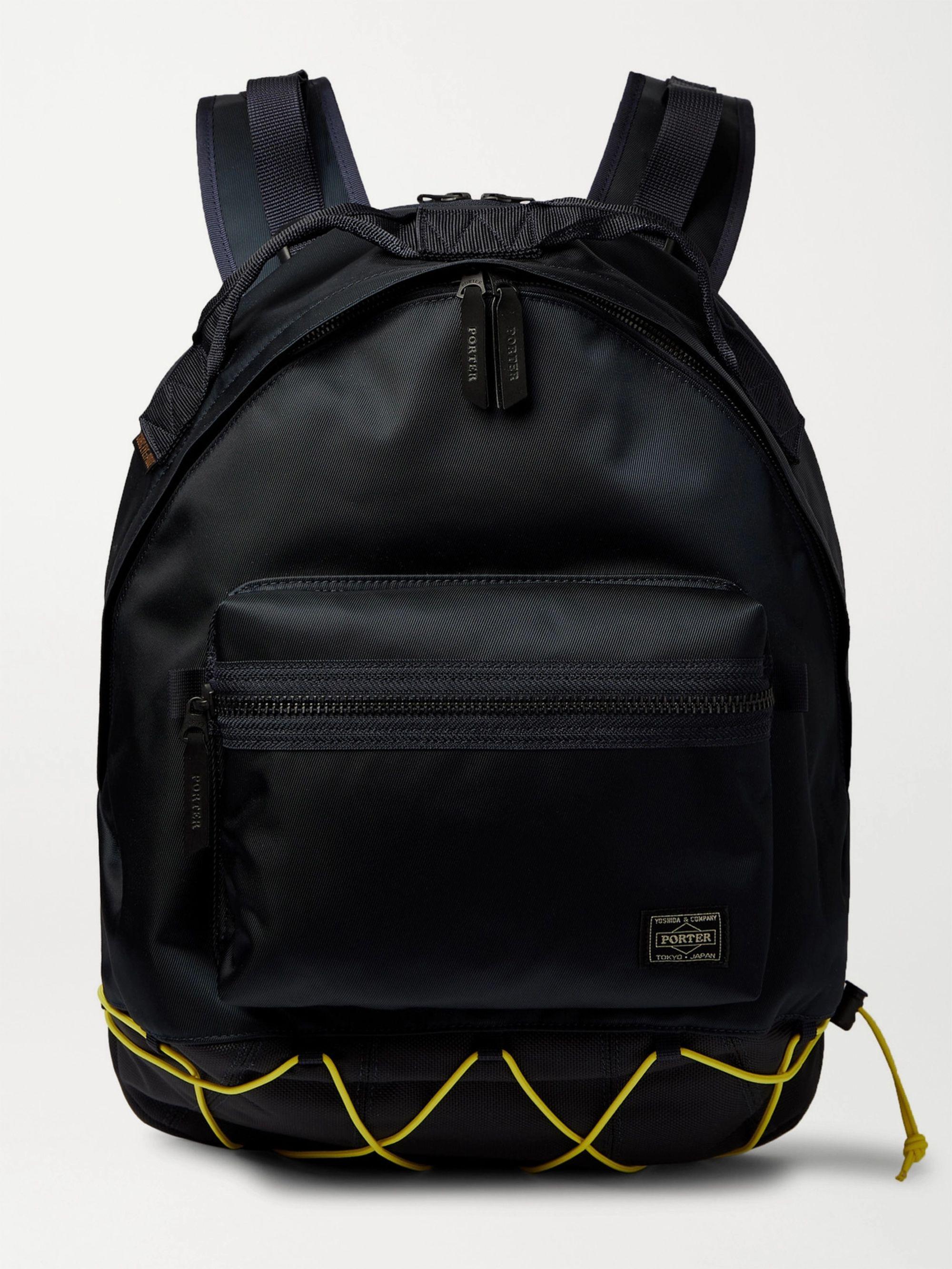 PORTER-YOSHIDA & CO CORDURA-Trimmed Nylon Backpack,Black