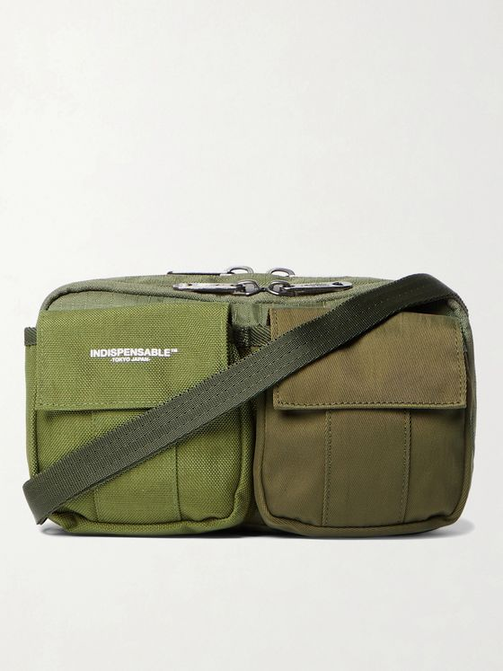 Indispensable Webbing-Trimmed Ripstop, Canvas and Twill Messenger Bag