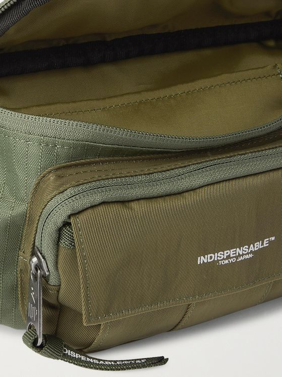 Indispensable Webbing-Trimmed Ripstop, Canvas and Twill Belt Bag