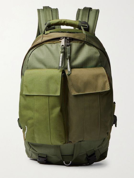 Indispensable Webbing-Trimmed Ripstop, Canvas and Twill Backpack