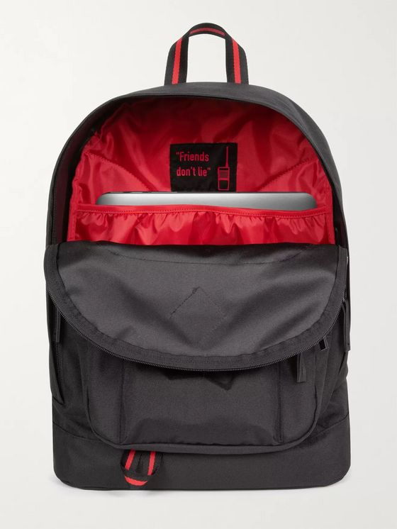 Eastpak + Stranger Things Logo-Appliquéd Canvas Backpack
