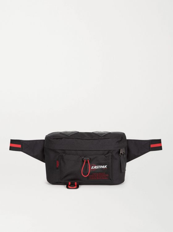 EASTPAK + Stranger Things Logo-Appliquéd Canvas Belt Bag