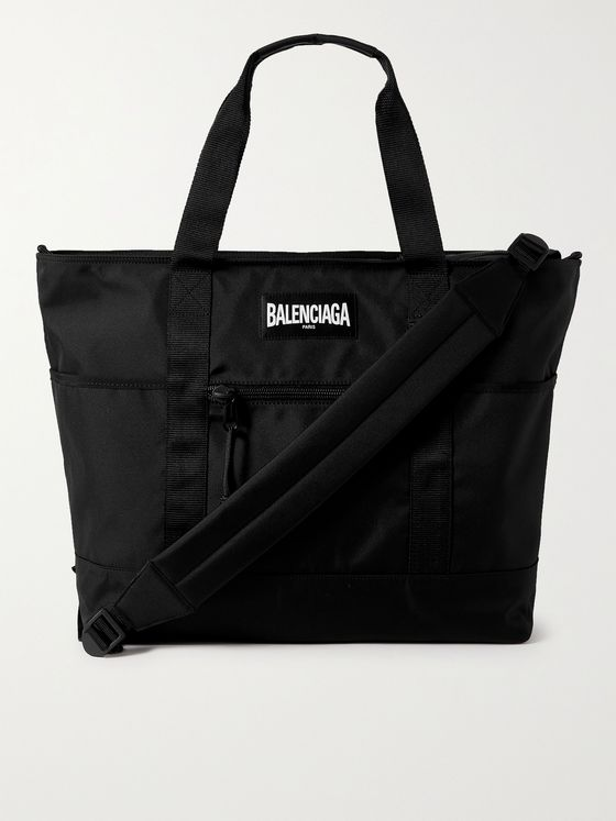 BALENCIAGA Oversized Logo-Appliquéd Canvas Tote Bag