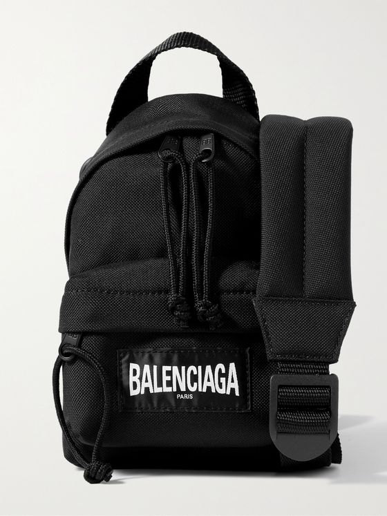 BALENCIAGA Logo-Appliquéd Recycled Nylon Messenger Bag