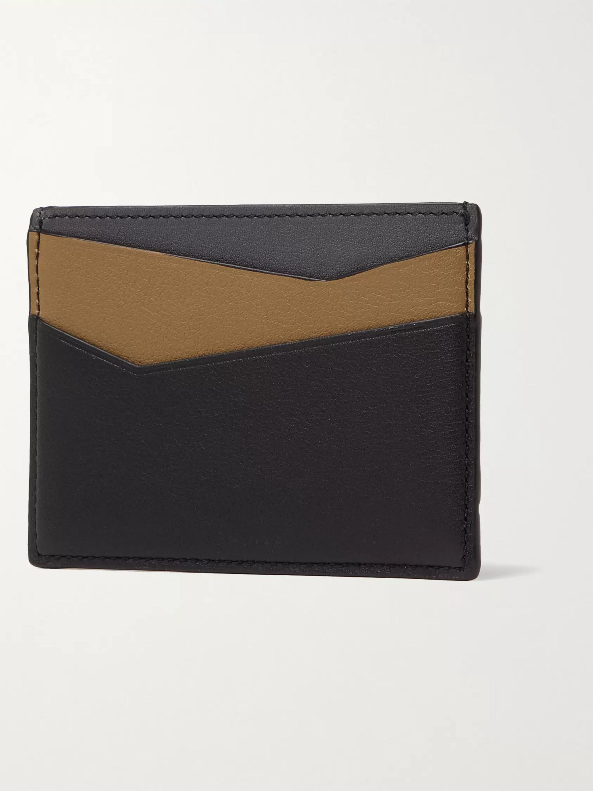 LOEWE Puzzle Logo-Debossed Full-Grain Leather Cardholder