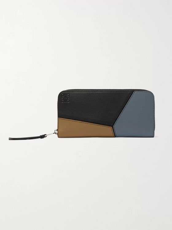 LOEWE Puzzle Logo-Debossed Leather Zip-Around Wallet