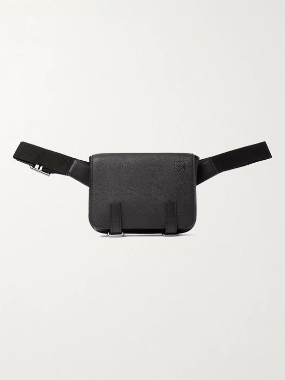 LOEWE Military Full-Grain Leather Belt Bag