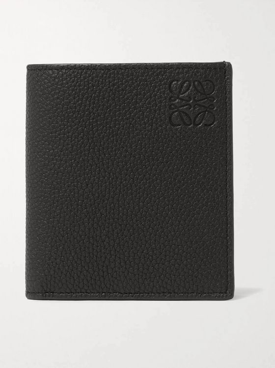 LOEWE Logo-Debossed Full-Grain Leather Billfold Wallet