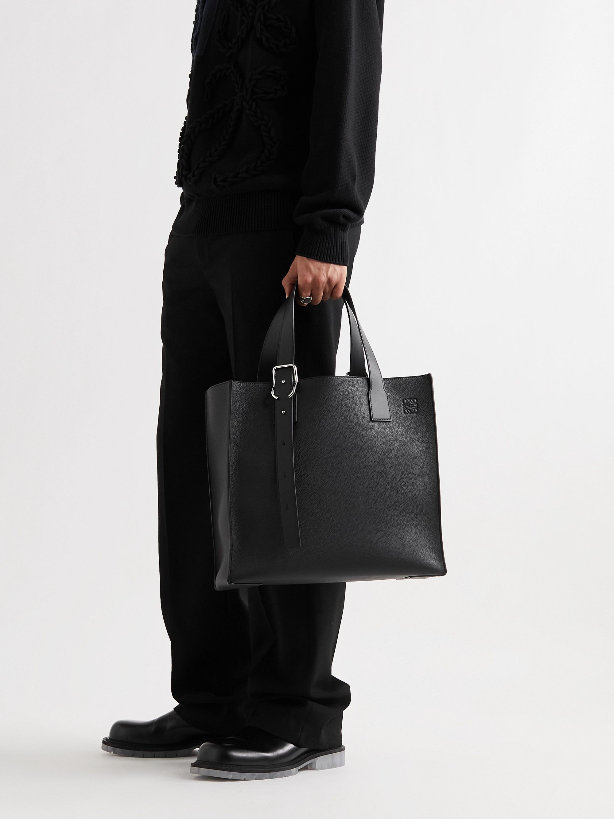 LOEWE Full-Grain Leather Tote Bag