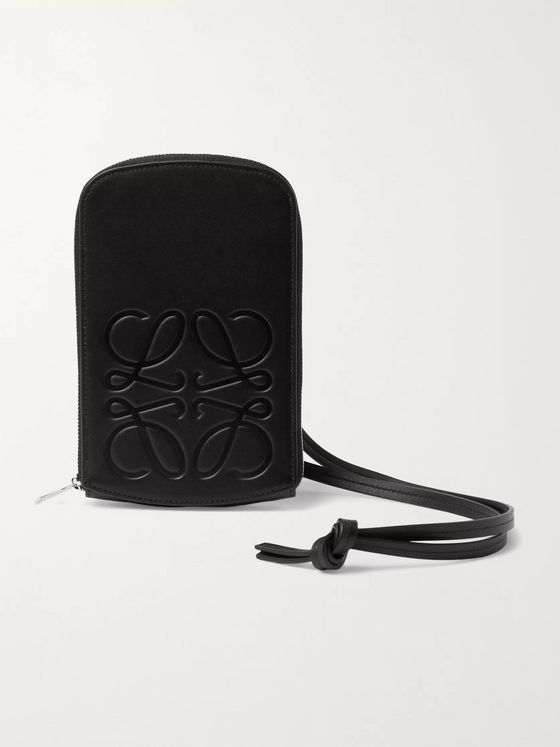 LOEWE Logo-Debossed Leather Pouch