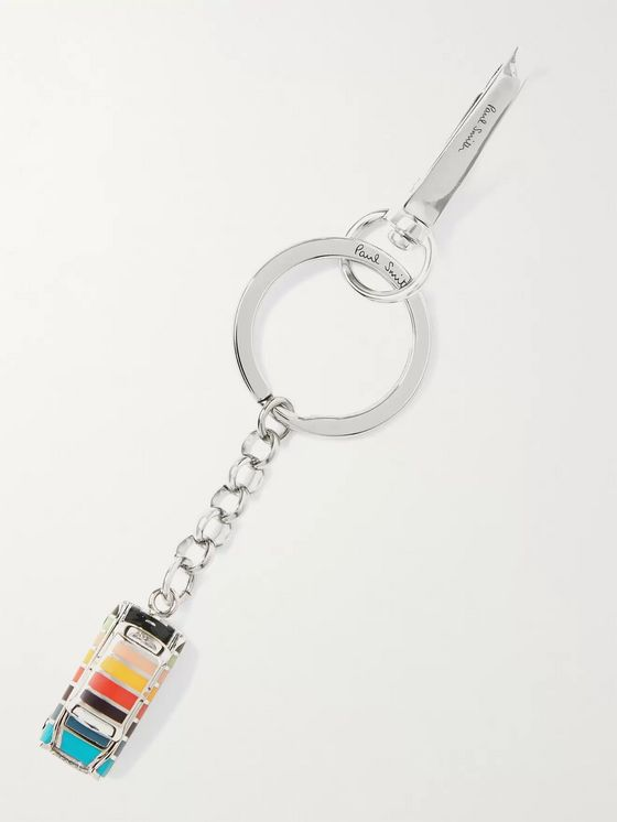 PAUL SMITH Taxi Silver-Tone and Enamel Key Ring