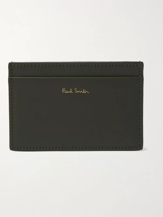 PAUL SMITH Striped Leather Cardholder