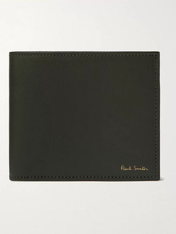 PAUL SMITH Striped Leather Billfold Wallet