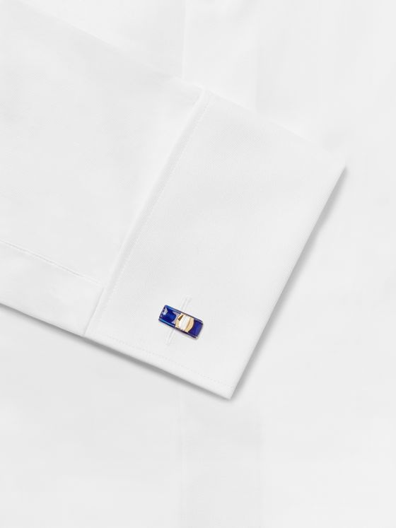 PAUL SMITH Gold-Tone and Enamel Cufflinks