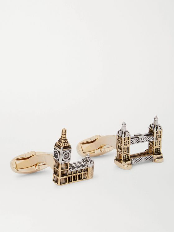 PAUL SMITH London Silver and Gold-Tone Cufflinks