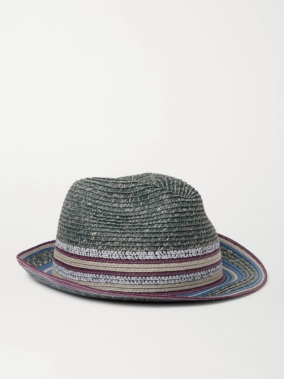 PAUL SMITH Woven Straw Trilby Hat