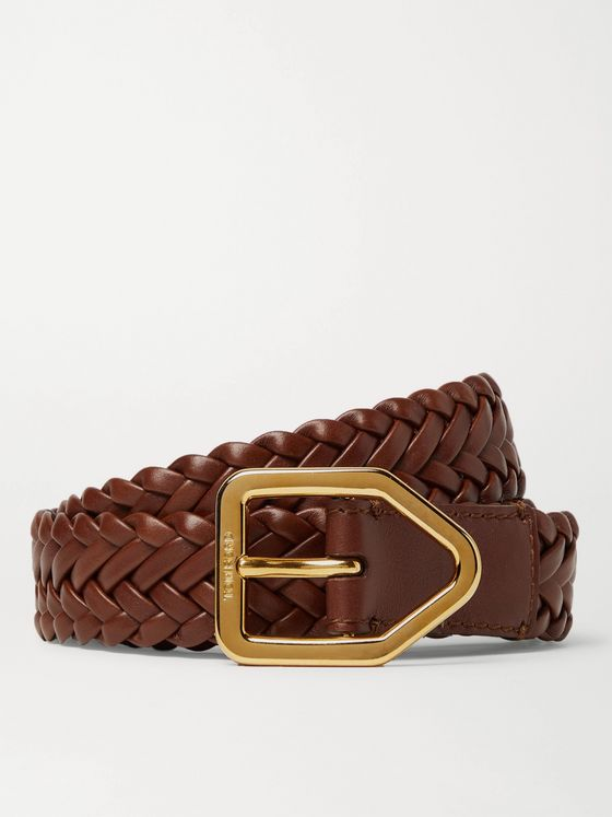TOM FORD 2.5cm Woven Leather Belt