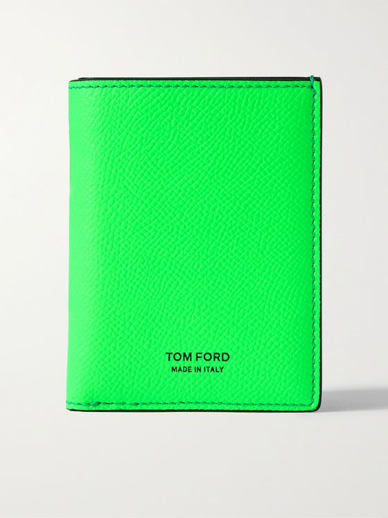 TOM FORD Neon Full-Grain Leather Bifold Cardholder