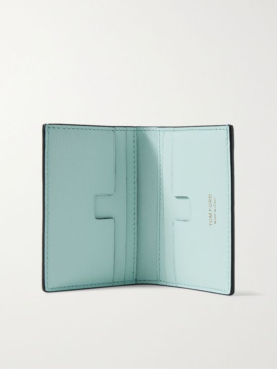 TOM FORD Logo-Appliquéd Textured-Leather Bifold Cardholder