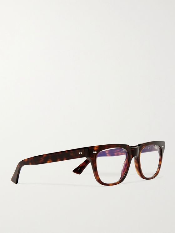 CUTLER AND GROSS 1381 Square-Frame Tortoiseshell Acetate Blue Light-Blocking Optical Glasses