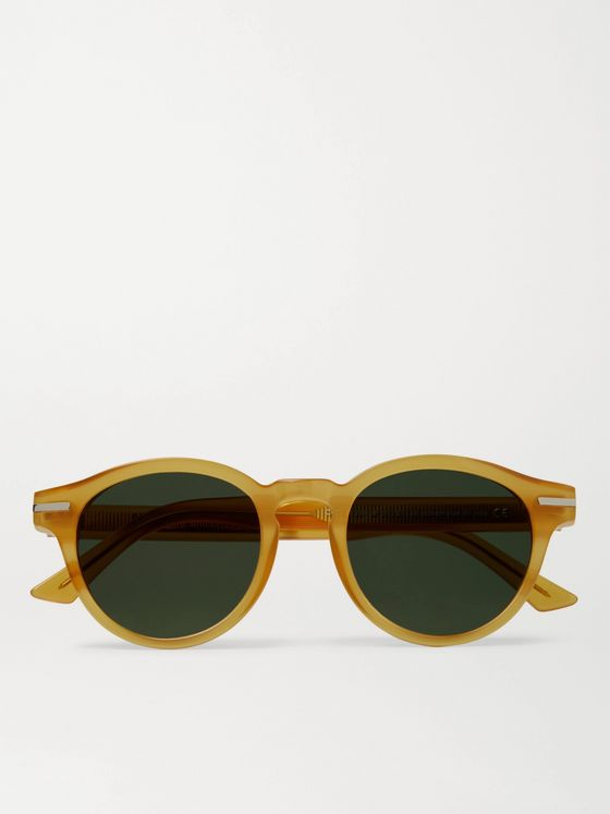 CUTLER AND GROSS 1338 Round-Frame Acetate Sunglasses