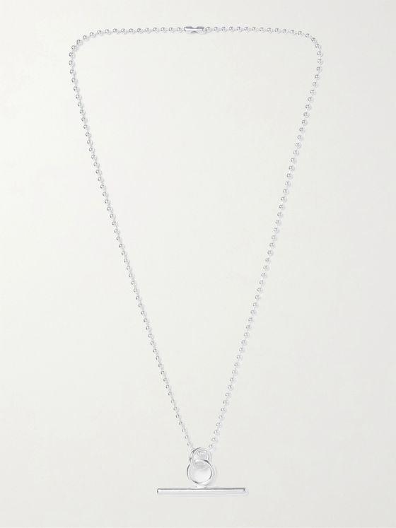 MARTINE ALI Teddi Toggle Silver-Plated Necklace