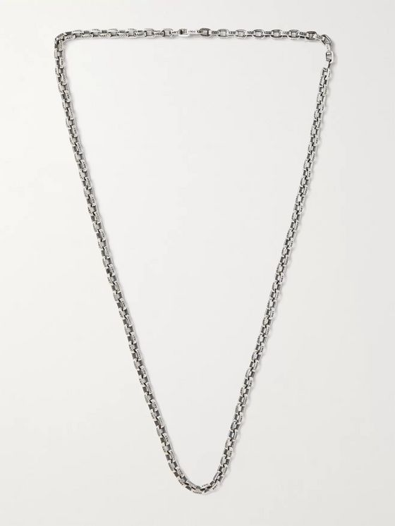 GOOD ART HLYWD Pequeño a Mano Sterling Silver Chain Necklace