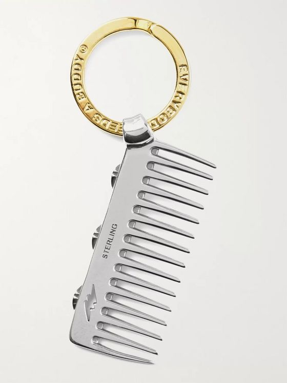 GOOD ART HLYWD Brass and Sterling Silver Comb Key Fob