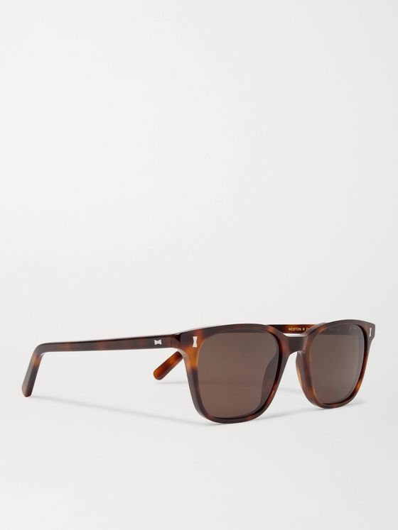 Cubitts Weston Square-Frame Tortoiseshell Acetate Sunglasses