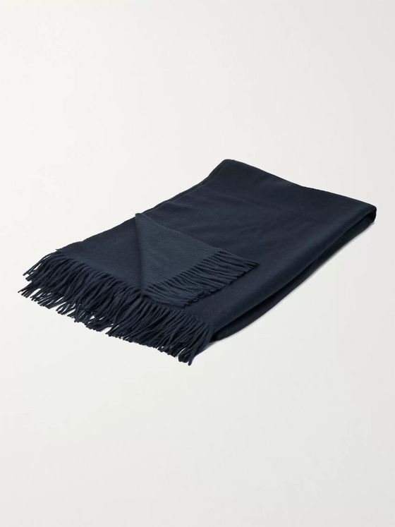 Johnstons of Elgin Fringed Cashmere Bed Throw