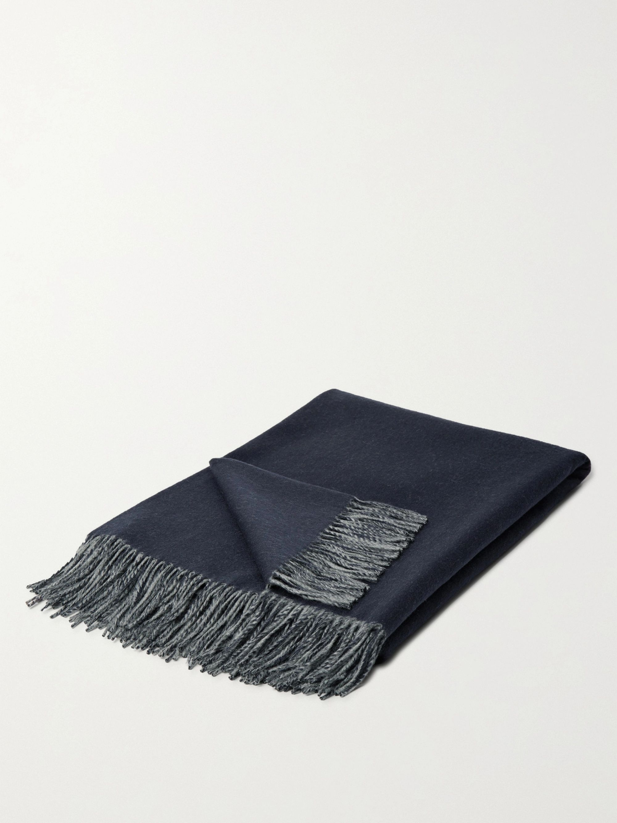 Johnstons of Elgin Reversible Fringed Cashmere Throw